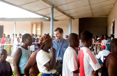 Chris at Liberian Election