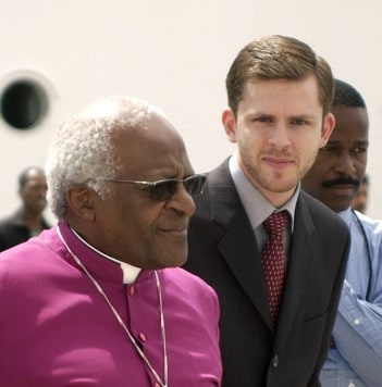 Chris with Desmond Tutu